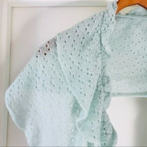 Pins and Needles Mint Scarf